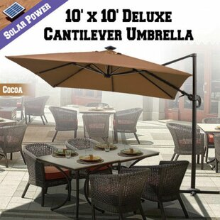 Grahm 10' Square Lighted Umbrella