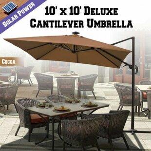 Grahm 10' Square Lighted Umbrella