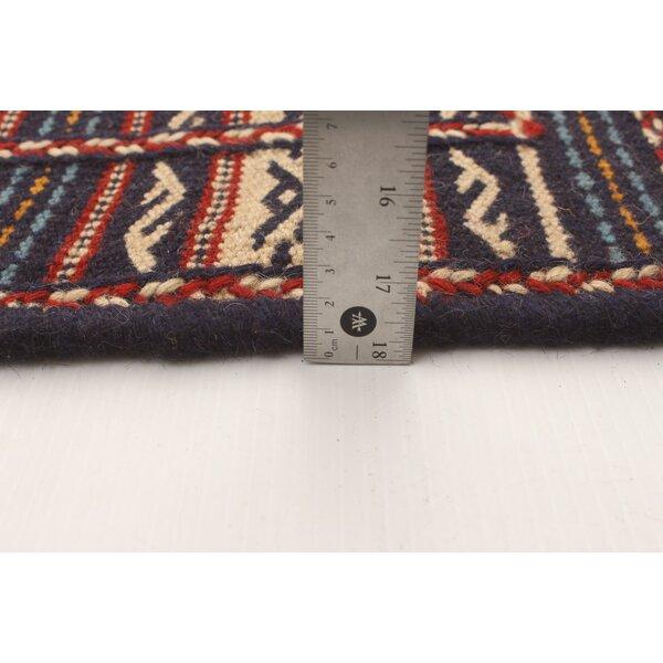 Bloomsbury Market Ahile Handmade Kilim Wool Dark Navy Rug Wayfair