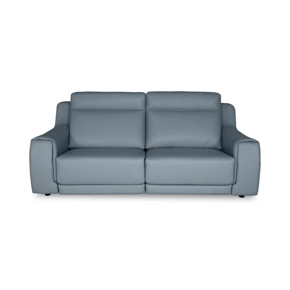 Sets Italia 84 Wide Genuine Leather Square Arm Reclining Sofa Wayfair