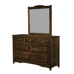 Restormel 7 Drawer Double Dresser with Mirror
