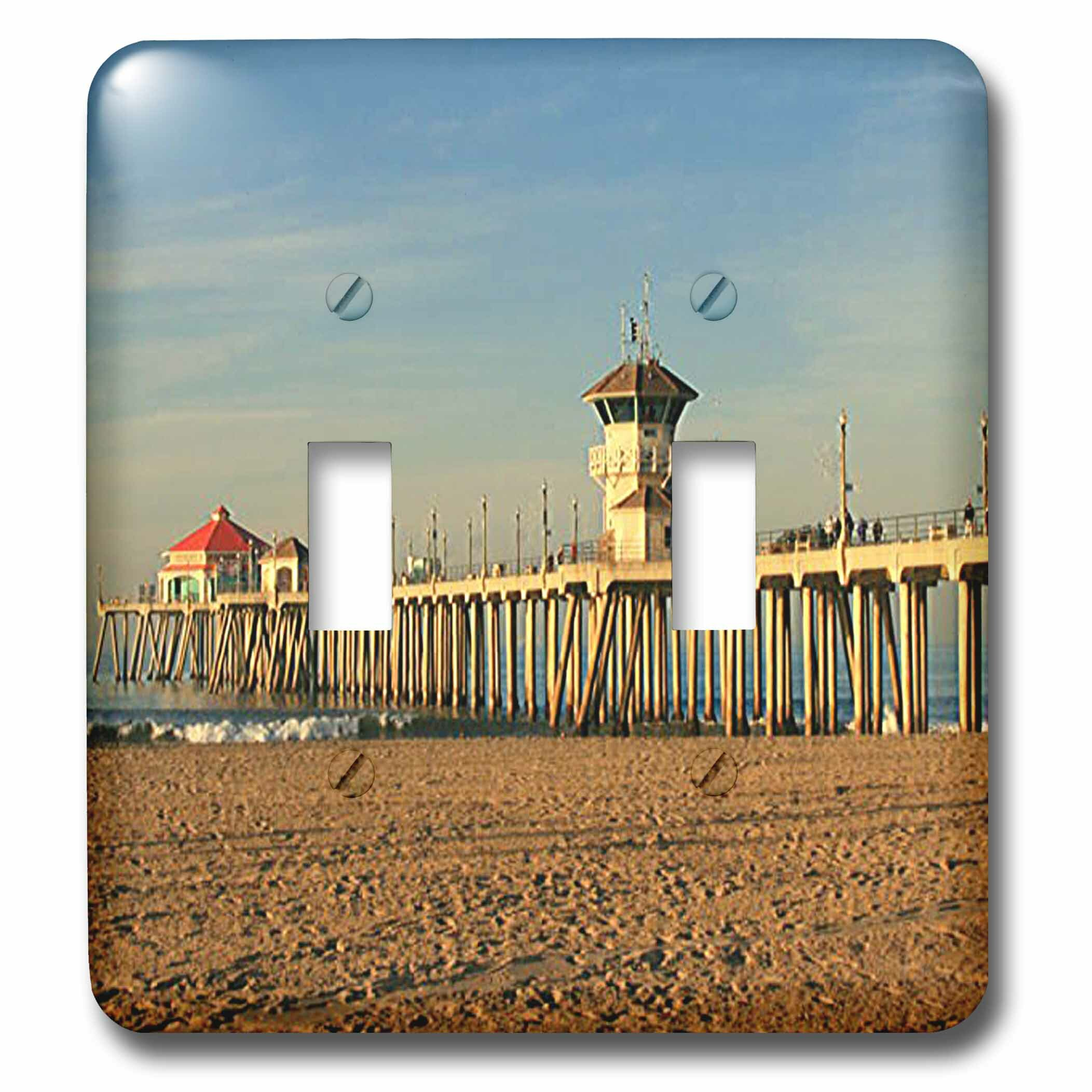 3drose Huntington Beach Pier 2 Gang Toggle Light Switch Wall Plate Wayfair