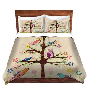 DiaNoche Designs Owl Bird Tree II Duvet Cover Set