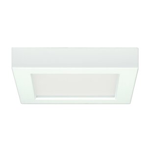 Best Choices Elzy 10.5W 5.5 Flush Mount LED Fixture 27K Square Wht 120V ByOrren Ellis