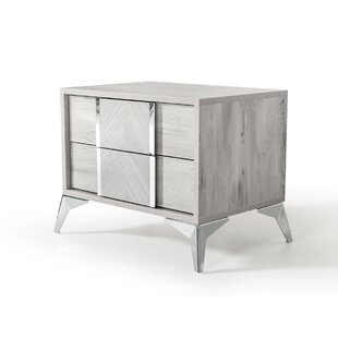 Labombard Modern 2 Drawer Nightstand