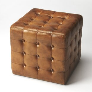 Darby Home Co Archer Leather Cube Ottoman