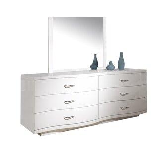 Ashlock 6 Drawer Double Dresser with Mirror by Orren Ellis