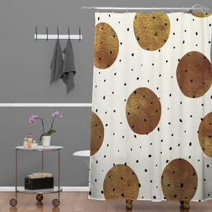 Mixed Dots Single Shower Curtain