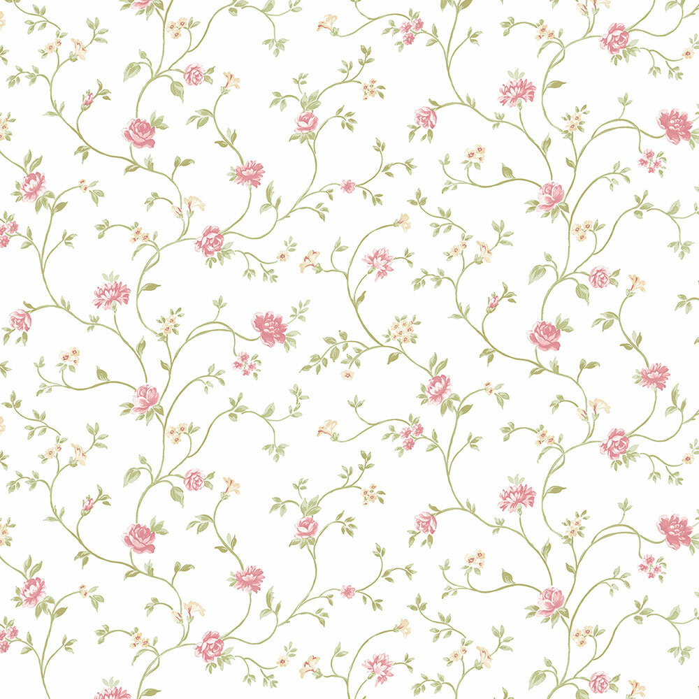 August Grove Durden Vine Floral 32 7 L X 20 5 W Smooth Wallpaper