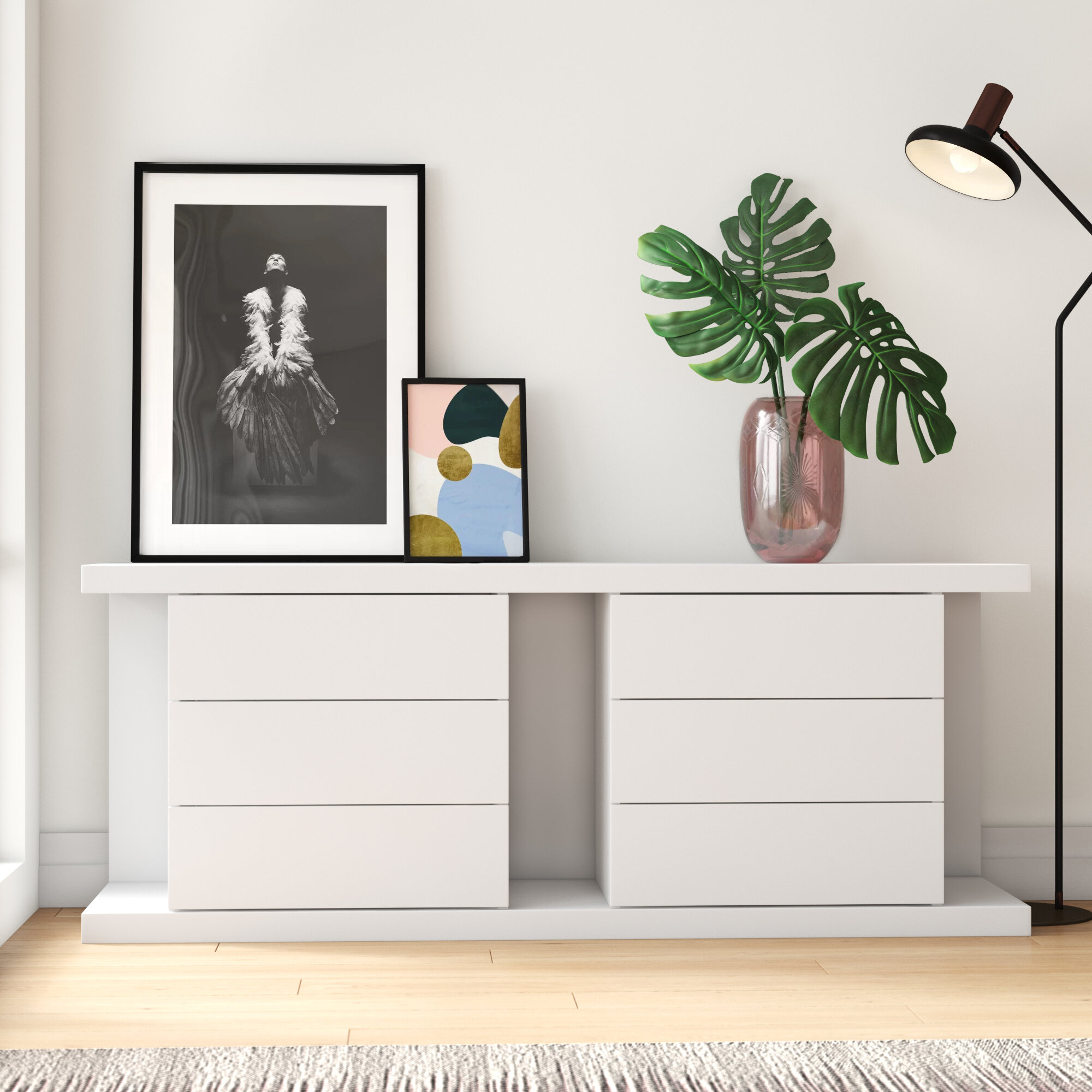 Mercury Row Cathcart 71 6 Drawer Sideboard Reviews Wayfair
