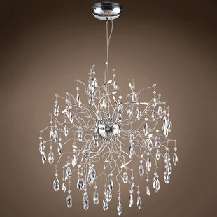 Rosdorf Park Silvestre 12-Light Crystal Chandelier