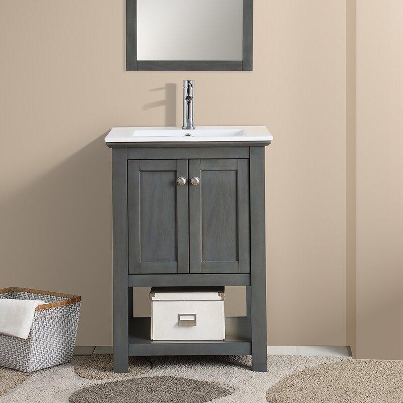 Fresca Cambria Manchester 24 Single Bathroom Vanity Set Reviews Wayfair