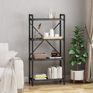 Yareli Iron 4 Shelf Etagere Bookcase