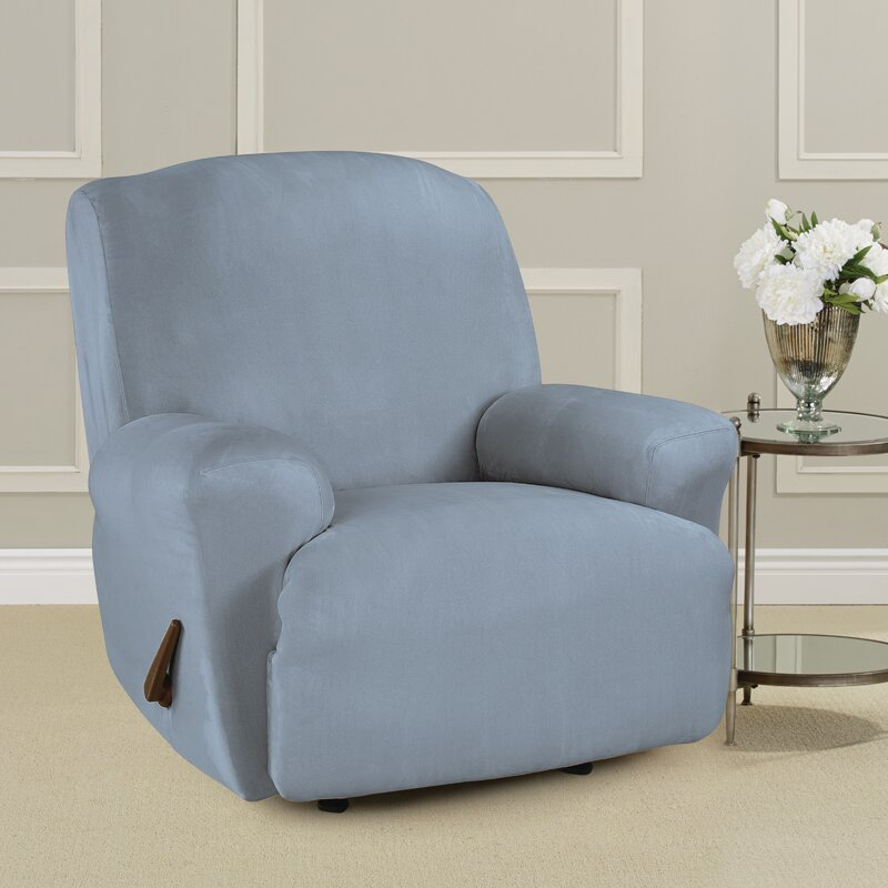 Sure Fit Ultimate Heavyweight Stretch Suede Box Cushion Recliner Slipcover Wayfair