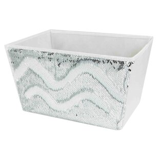 Affordable Price Sequin Storage Bin By Home Basics