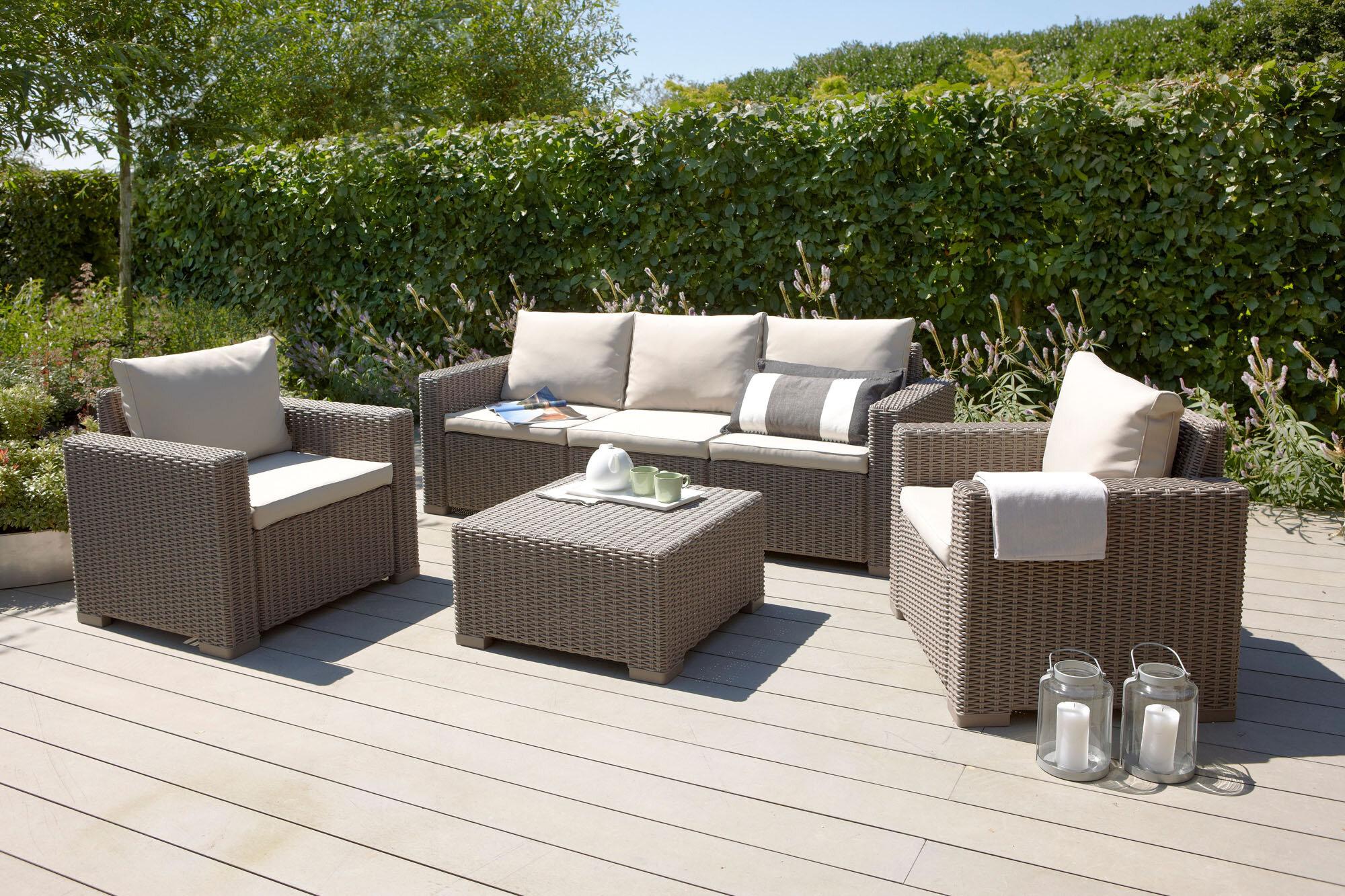 Garten Living 20 Sitzer Lounge Set Gean aus Polyrattan mit Polster ...