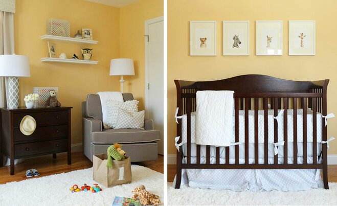 A Chic Yellow and Gray Nursery