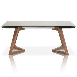 Brayden Studio Allsup Solid Wood Dining T..