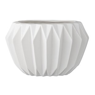 Ceramic planters youll love wayfair trenton fluted ceramic pot planter mightylinksfo