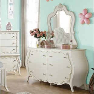 Eddins 6 Drawer Double Dresser with Mirror