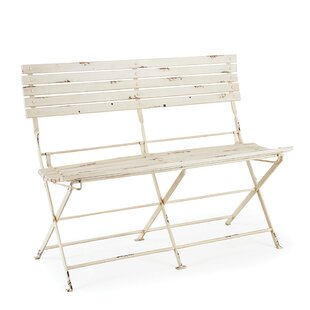 Rosecliff Heights Hillcrest Heights Folding Metal Garden Bench