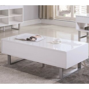 Nolanville Contemporary Coffee Table with Storage by Ivy Bronx