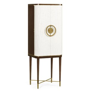 Crackle Cloth Lacquered Bar Cabinet