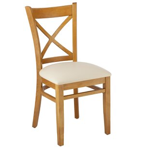 Helms Cross Back Solid Wood Dining Chair (Set of 2) August Grove