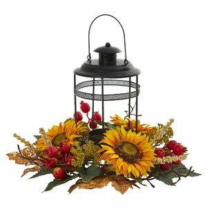 Sunflower Berry Artificial Candelabrum