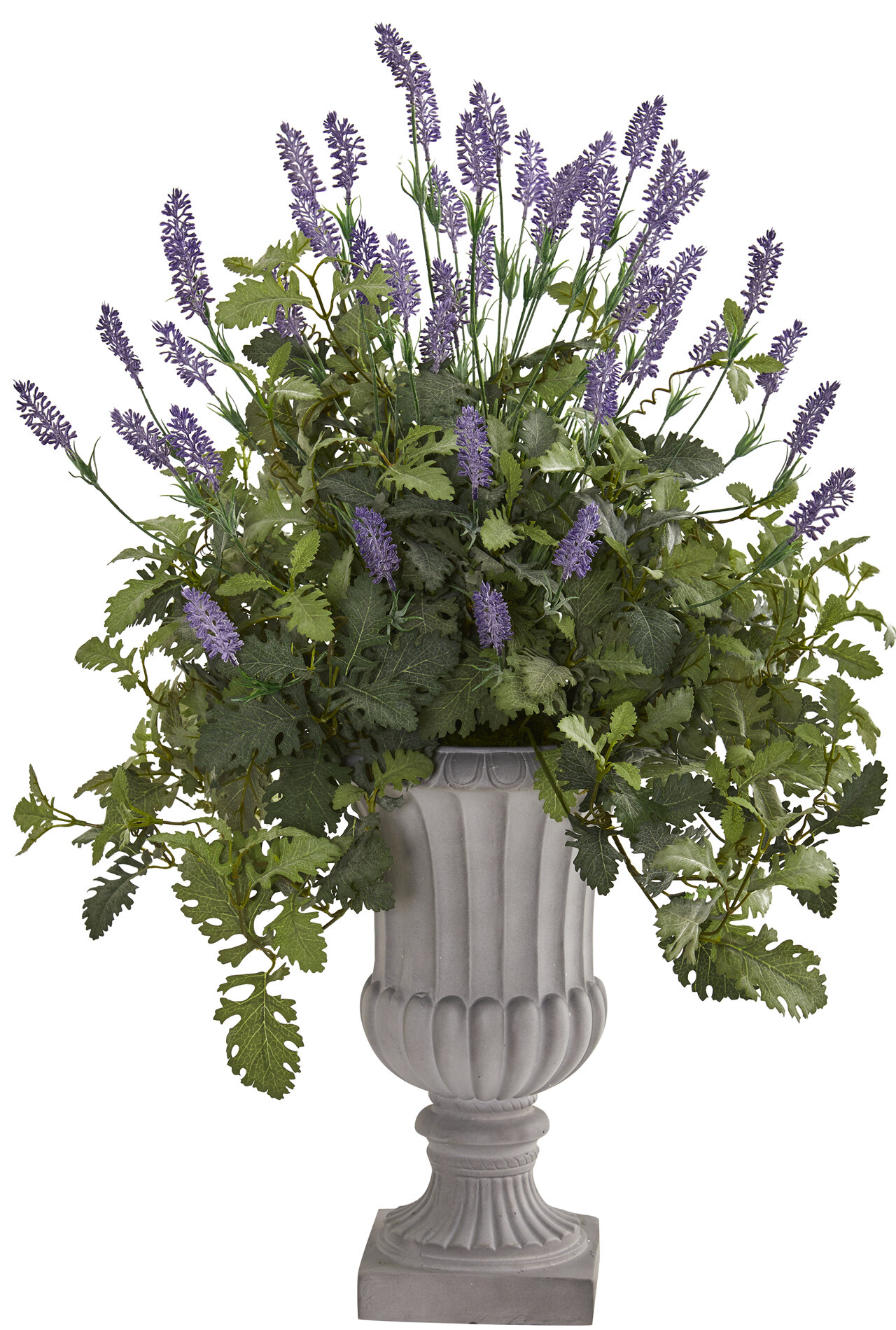 """8/"""" Dusty Miller Artificial Plant Green//Gray pack of 12"""