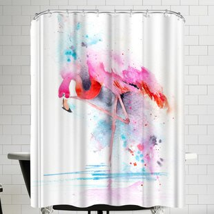 Flamingo on One Leg Single Shower Curtain