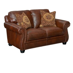 Darby Home Co Mariela Leather Loveseat