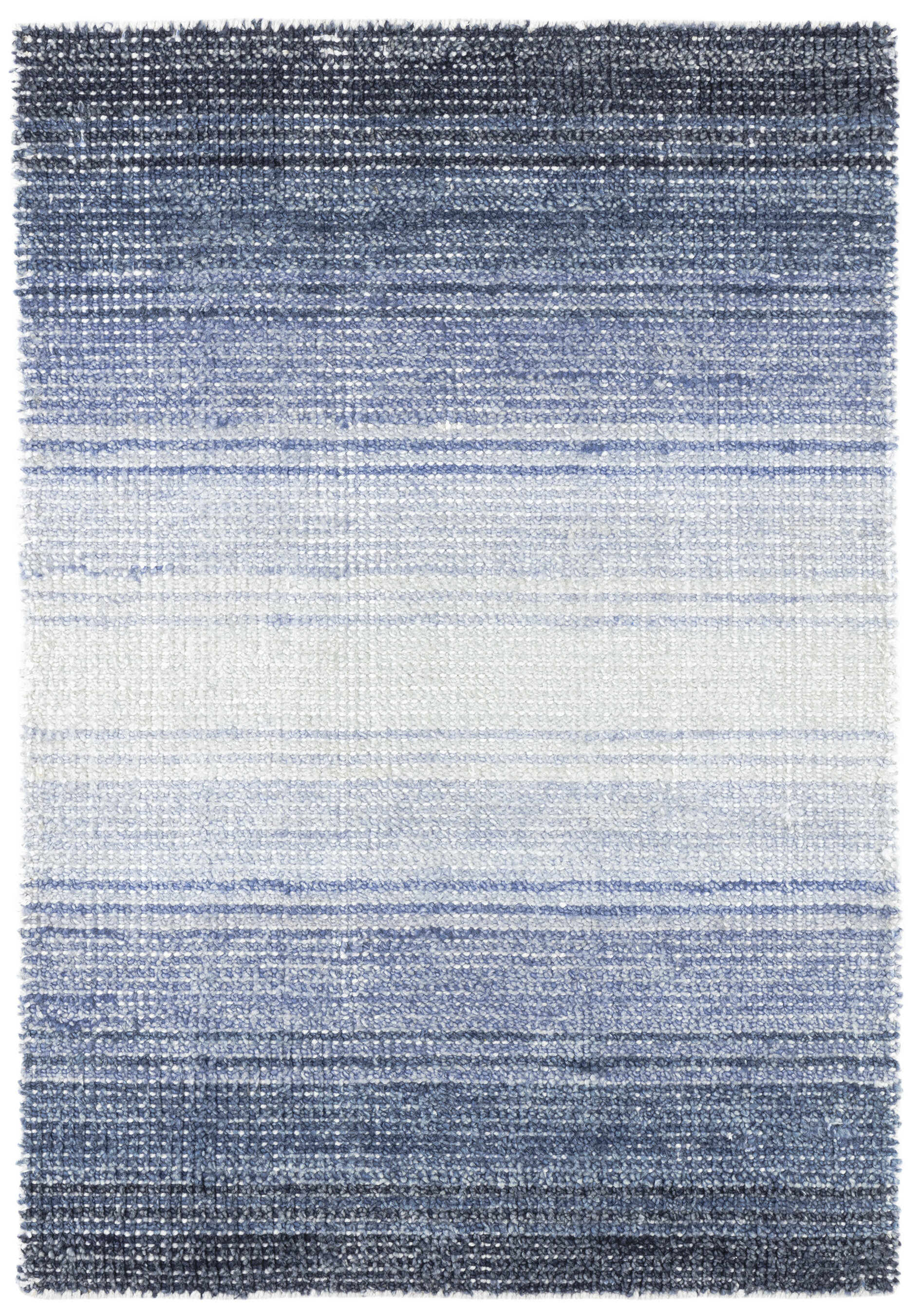 Dash And Albert Rugs Pandora Striped Hand Knotted Blue Area Rug Wayfair