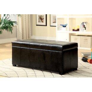 Hokku Designs Alberta Leather Storage Bench