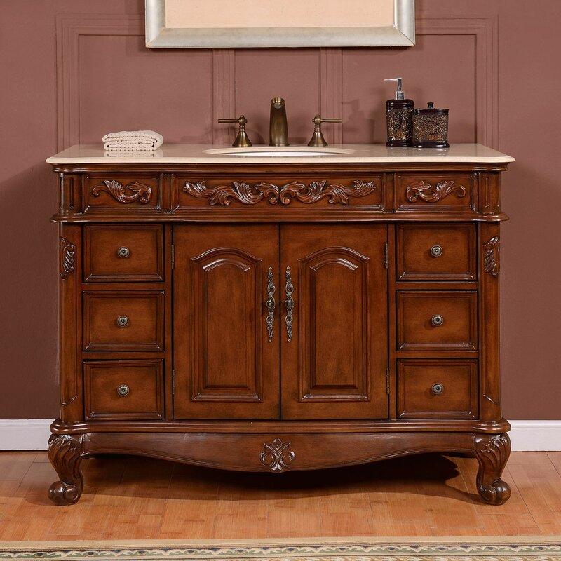 Astaire 48 Single Sink Cabinet Bathroom Vanity Set