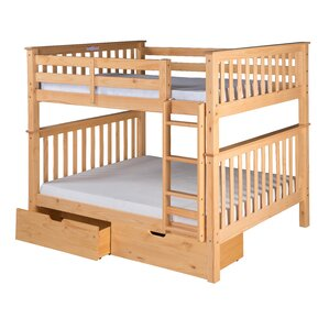 Santa Fe Mission Bunk Bed with Storage by Camaflexi