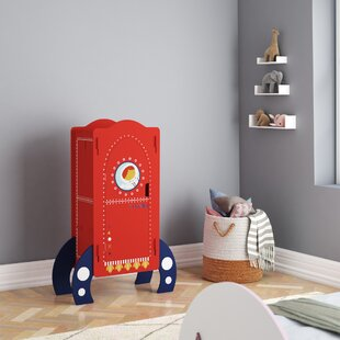 Glidewell Rocket Ship Mini 1 Door Wardrobe By Zoomie Kids
