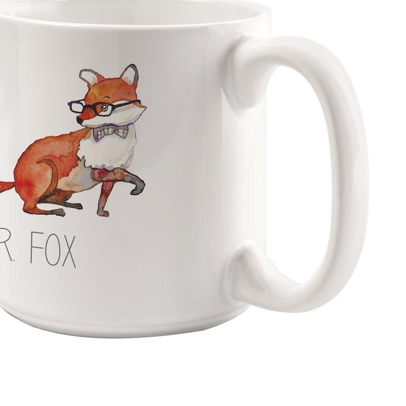 Personalized 2 Piece 20 Oz Fox Large Coffee Mug Set