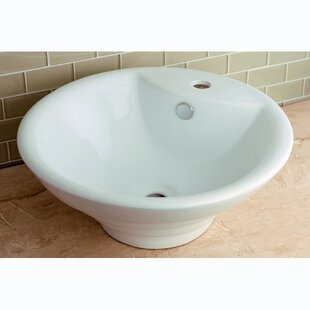 Searching for Ripple Ceramic Circular Vessel Bathroom Sink with Overflow ByKingston Brass
