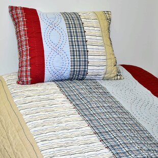 Bacati Boys Stripes and Plaids Quilt