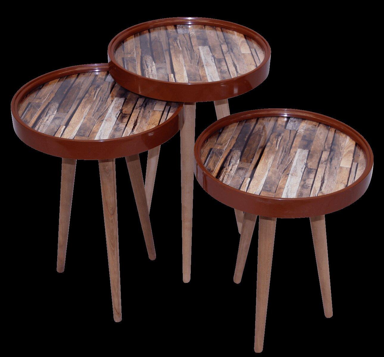 World Menagerie Ingersoll 3 Piece Nest Of Tables Wayfair Co Uk