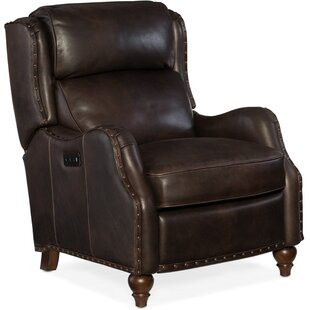 Tutor Leather Power Recliner Hooker Furniture