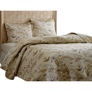 Map 3 Piece Reversible Quilt Set by Tommy Bahama Bedding