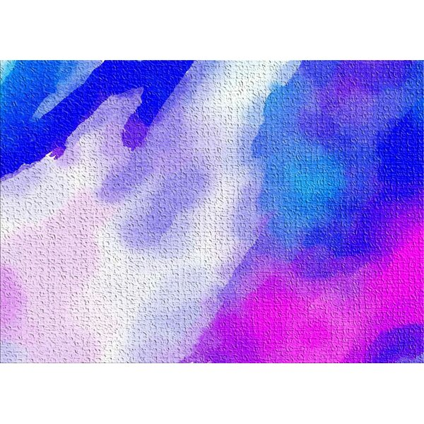 East Urban Home Watercolor Purple Area Rug Wayfair