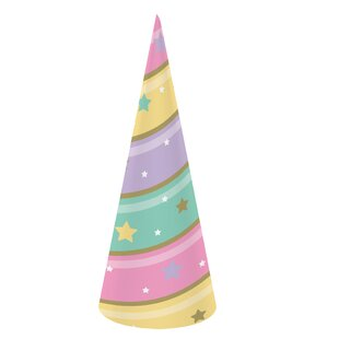Sparkle Unicorn Horn Hat Paper Disposable Party Favor (Set of 24)