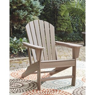 Lupe Plastic Adirondack Chair by Highland Dunes