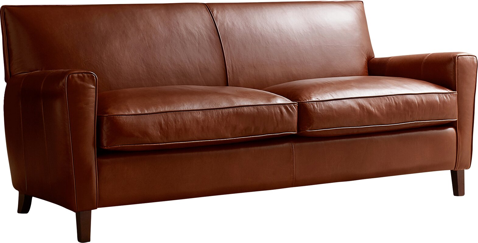 AllModern Custom Upholstery Foster Leather Sofa & Reviews