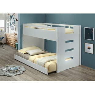 Ådne Twin over Twin Loft Bed with Trundle and Built-In Ladder