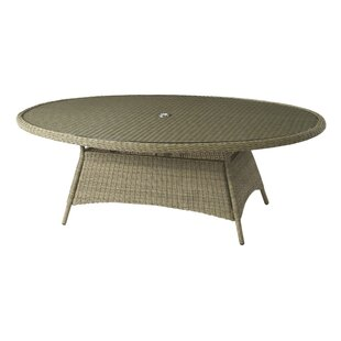 Elliptical Rattan Dining Table Image