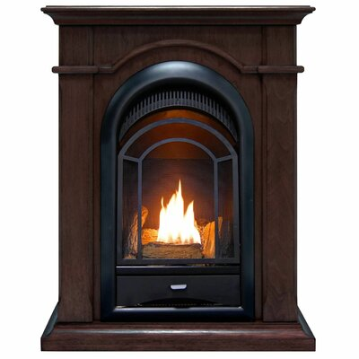 Heating Vent Free Propane/Natural Gas Fireplace ProCom Finish: Chocolate